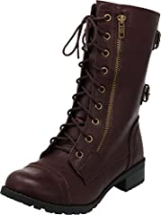Cambridge Select Women's Combat Boot is a dynamic, head-turning interpretation of a staple silhouette, making it perfect for everyday wear. Imported.
