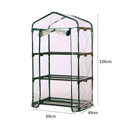 WZTO 3-Tier Mini Greenhouse, Portable Mini Garden House with Warm Clear PVC Cover for Indoor/Outdoor Growing Seeds & Seedlings, Tending Potted Plants Flower Zipper Roll Up Front by WZTO (Image #2)