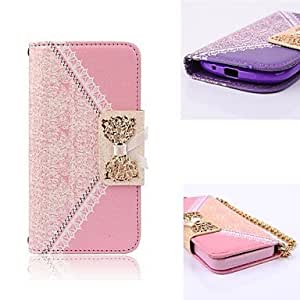 HJZ Elegant Design Flip Wallet Leather Case for Full Body Case with Stand Samsung Galaxy S3 mini I8190 (Assorted Colors) , Purple