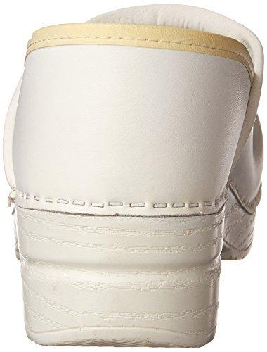Dansko Women's Professional Box Leather Clog,White,40 EU / 9.5-10 B(M) US