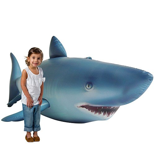 Jet Creations Shark Inflatable Life Like 84 inches Long Party Photo Prop Gift Novelty AL-Shark]()