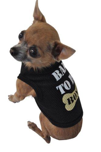 - Ruff Ruff and Meow Doggie Tank Top, Bad to Da Bone, Black, Small