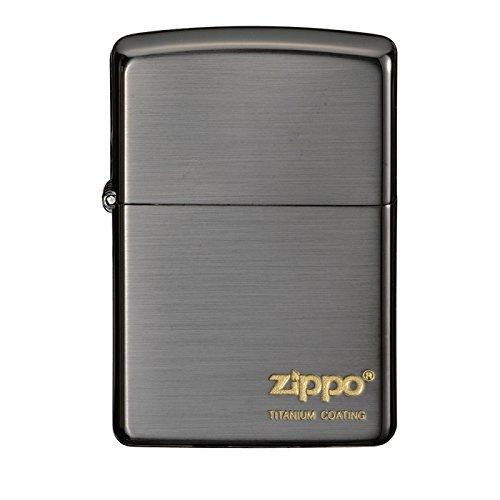 zippo 名入れ チタンコーティング THK ブラック B01MCVL7WT