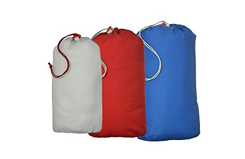 Agnes Bag Nylon Big Sleeping (Big Agnes Essentials Stuff Sacks, Lt Gray/Red/Blue, 2L/3L/5L)