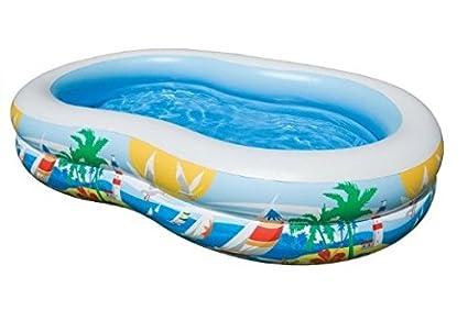 Intex Swim Center Inflatable Paradise Seaside Kids Swimming Pool | 56490EP