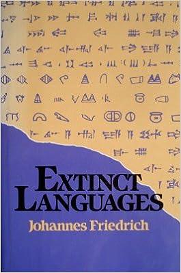 Amazoncom Extinct Languages Johannes Friedrich - Extinct languages