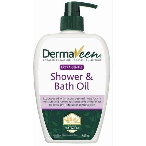 DermaVeen Extra Gentle Shower and Bath Oil 500mL by Default