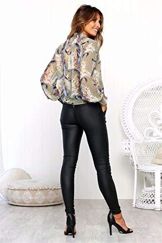col pour As Shirts col Manches Blouse Longues Femmes T Gadfjuotg roul roul Shown PHwnxp