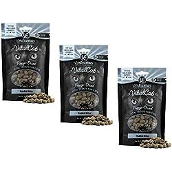 Vital Essentials Vital Cat Freeze-Dried Rabbit Bites Grain Free Limited Ingredient Cat Treats - 3 Pack.9 Ounce Each Bag
