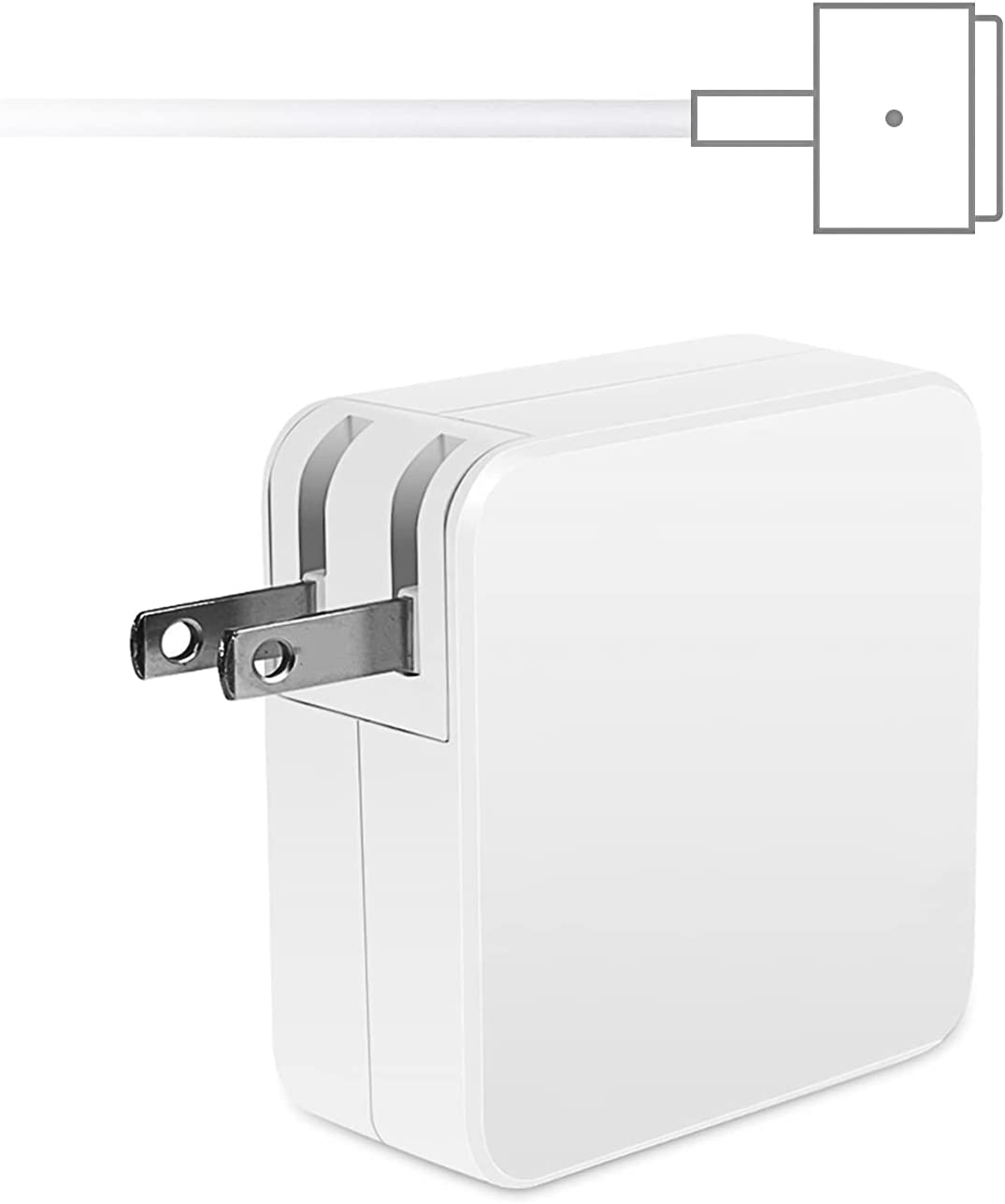 Compatible with MacBook Pro Charger with Cord - Replacement Magnetic 60W T-Tip, Universal Power Adapter Compatible for Apple Mac Book Charger/MacBook Air with 13-inch Retina Display(After 2012)