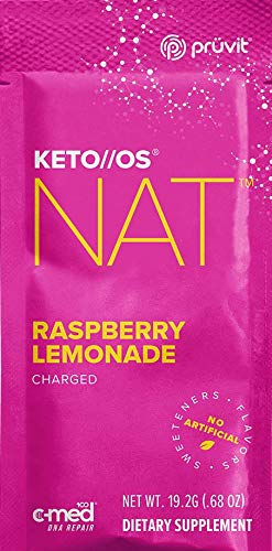 Pruvit Keto//MAX Charged Ketones 4 Single Packs Bundle of MAX Raspberry Lemonade, guaranteed Ketosis and great for Keto Diet and Lifestyle