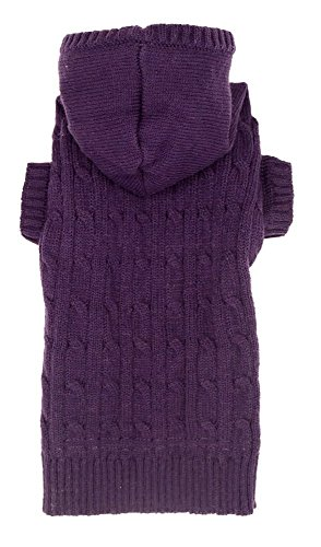 Lanyar Purple Dog Classic Cable Pet Sweater Coat Clothes Hoodie for Dogs, XX-Large (XXL) Size by Lanyar