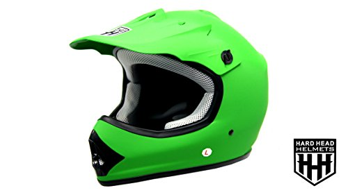 SmartDealsNow DOT Youth & Kids Helmet for Dirtbike ATV Motocross MX Offroad Motorcyle Street bike Helmet (Medium, Matte Green) ()