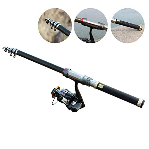 (WGWBHJN Hot 1.5/1.8/2.1M Powerful Telescopic Fishing Rod Sea Ultra Light H Rod Lure Rod Spinning <1.8 m)