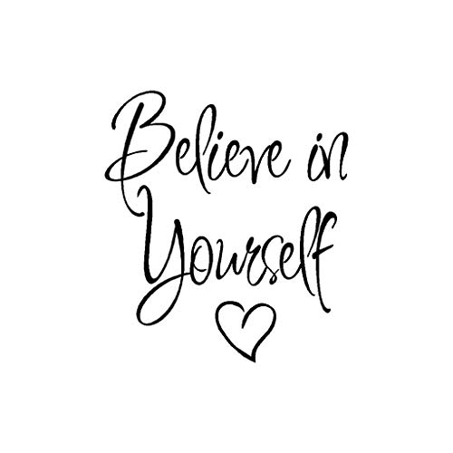 uaswguDFS Decorative Wall Sticker - Believe in Yourself - Pattern Creative Stickers Wall/Waterproof/Removable/Self-Adhesive Wall Window Decoration, Vinyl Decal Background Sticker (11.8x13.4'')