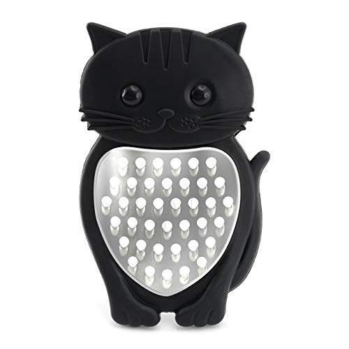 Bar Amigos CAT Cheese Grater – By Bar Amigos | Meow Novelty Cat Themed Kitchen Cooking Tool Silicone Stainless Steel…