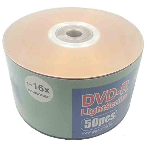 50pc Gigablock LightScribe DVD-R 16x LS Printable Blank Media by Gigablock