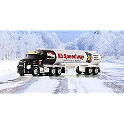 Speedway 2020 Holiday Toy Truck - Mack Anthem Day Cab with Fuel Tank Trailer w/ Lights & Sounds Fifth in A Series: Toys & Games