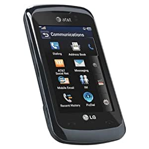 Lg Encore Gt550 Unlocked Gsm Phone With 3mp Camera, Gps, 3g Support And Touch Screen (black)