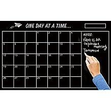 Pinovk Monthly Planner Calendar Blackboard Removable Wall Decal Chalk Board Sticker for Home Kitchen Office Dorm Fridge Memo