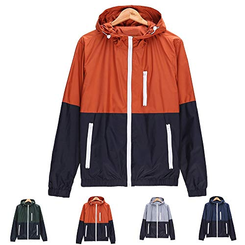 Waterproof Jackets for Men Lightweight.Mens Casual Jacket Outdoor Sportswear Windbreaker Lightweight Bomber Jackets