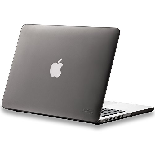 Kuzy - Older Version MacBook Pro 13.3 inch Case (Release 2015-2012) Rubberized Hard Cover for Model A1502 A1425 with Retina Display Shell Plastic - Gray (Apple Macbook Pro 13 With Retina Display 2019 Best Price)