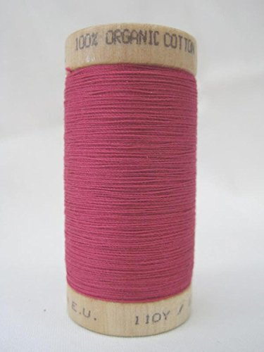 Multipurpose Organic Cotton Sewing Thread - Deep Rose - 300 Yard Spool