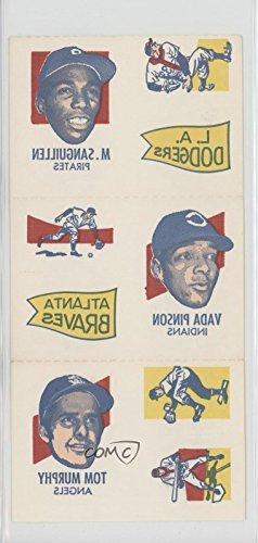 Al Kaline; Lee May; Billy Grabarkewitz; Manny Sanguillen; Vada Pinson; Tom Murphy (Baseball Card) 1971 Topps Tattoos - Sheets #5 ()
