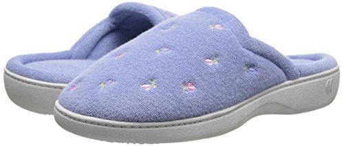 Isotoner Women's Terry Embroidered Scalloped Clog