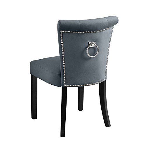 Amazon Dining Chairs: Grey Velvet Dining Chairs: Amazon.co.uk