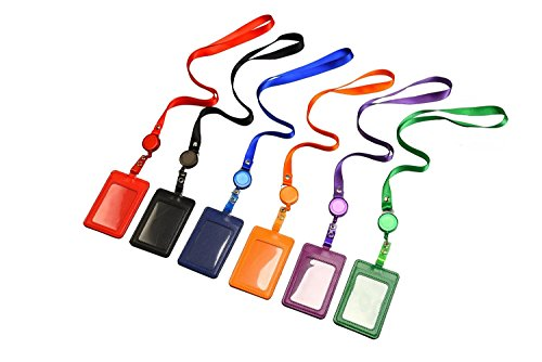 Vertical 2 Sided Leather Business Retractable