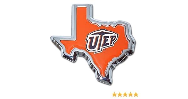 Car Emblem NEW!! TX shape with color of Texas at El Paso Univ ELEKTROPLATE