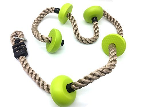 HappyPie Five Knotted Climbing Pp Rope for KidsGreen by HappyPie