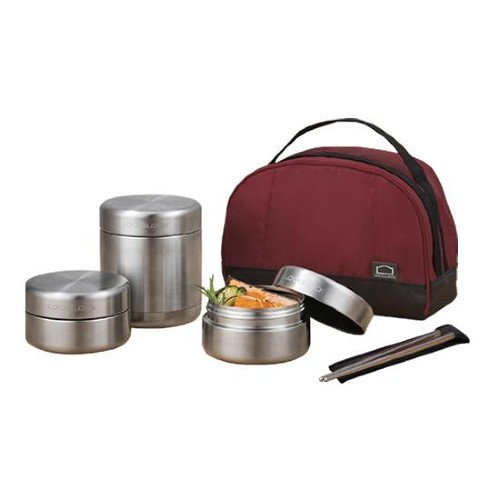 Vacuum Insulated Thermal Bento Lunch Box Stainless Steel Food Jar Set