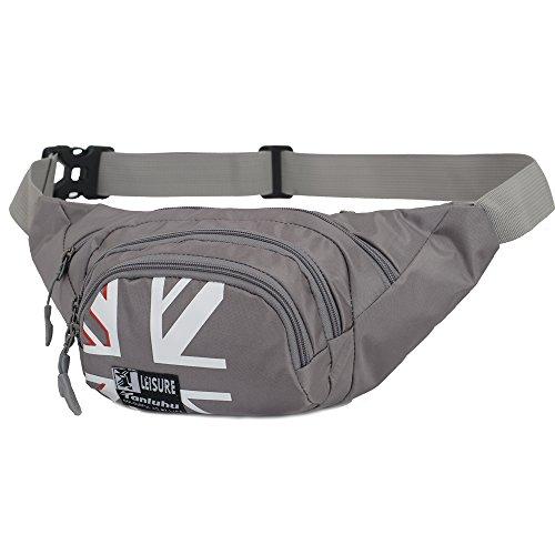 Fanny Pack SINOKAL Waist bag for Men Women Bum Bags Travel Hiking Hip Bum Waist Bag (Grey) by SINOKAL (Image #1)