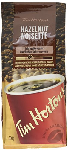 Tim Hortons Hazelnut (Noisette) Light Medium Roast Fine Grind Coffee - 300g