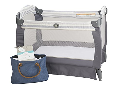 or Co-Sleepers PUREgrace Playard Mattress Sheet and Protector in one Mini Portable Crib Mattresses Made with All Natural Hypoallergenic Tencel Waterproof Cover Protects and Fits Pack N Play