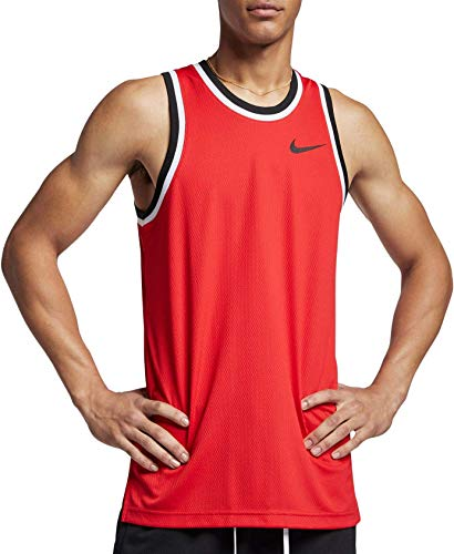 Nike Men's Dry Classic Basketball Jersey (University Rd/Blck/Blck, X-Large)