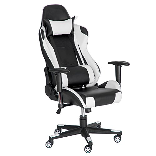 Merax High Back Racing Style Gaming Chair Adjustable Swivel