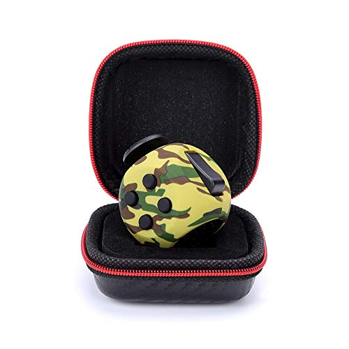 FIDGET DICE Fidget Cube Toy with Protective Case, Relieves Stress and Anxiety(Camo Green)