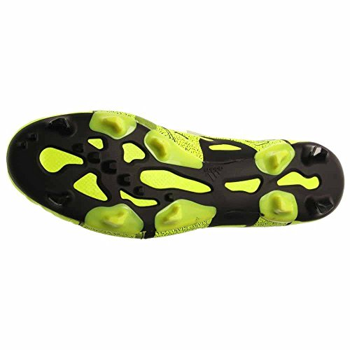 adidas Mens X 15.1 FG/AG Firm Ground/Artificial Grass Leather Soccer Cleats 12 US, Solar Yellow/Frzn Yellow/Black