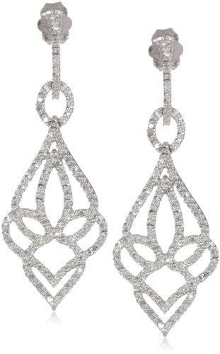 10k White Gold Diamond Dangle Earrings (1/3 cttw, I-J Color, I2-I3 Clarity)