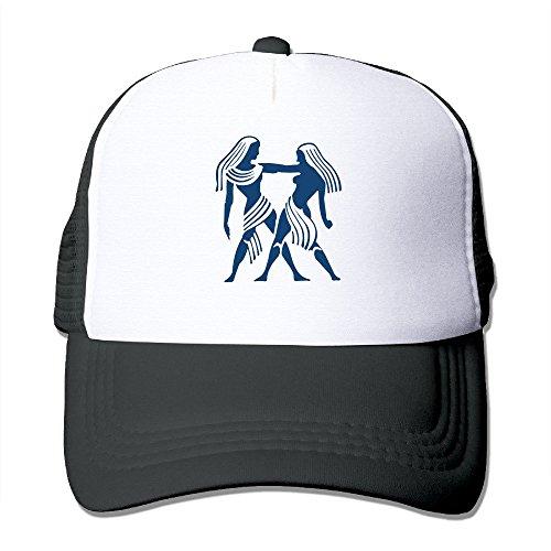 mzone-personalized-mesh-visor-cap-gemini-zodiac-trucker-hats-black