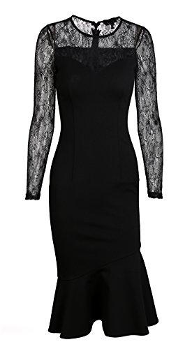 Buy black sheer bridesmaid dresses - 6