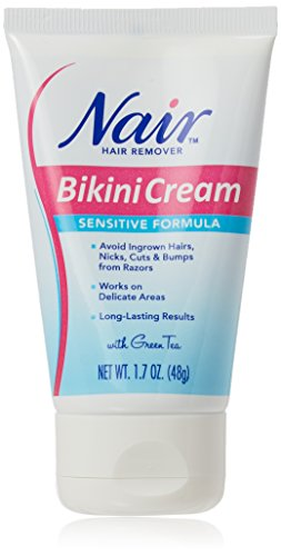 Nair Hair Remover Bikini Cream Sensitive 1.7 Ounce (50ml) (2 Pack)