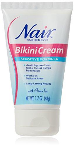 Nair Hair Remover Bikini Cream Sensitive 1.7 Ounce (50ml) (2 Pack) (Hair Removal Cream Bikini Area)