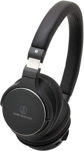 Audio-Technica ATH-SR5BTBK Bluetooth Wireless On-Ear High-Resolution Audio Headphones with Mic & Control, Black