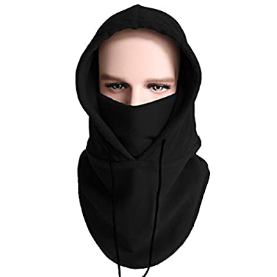 Balaclava Fleece Hood - Windproof Ski Mask- Cold Weather Face Mask Motorcycle Neck Warmer Cycling Helmet Liner Skull Cap Beanie Thermal Scarf Winter for Running Snowboarding Fishing