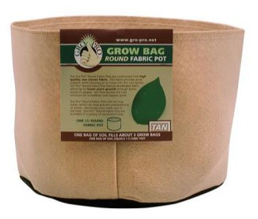 Pot 200 Gallon , Tan Round, Half Dozen (6) by Grow Bag