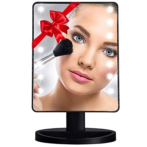 Small Vanity Mirror with Lights - 10.7 inches Dimmable Led Touch Screen -